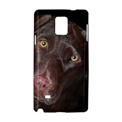 Inquisitive Chocolate Lab Samsung Galaxy Note 4 Hardshell Case