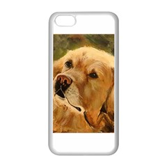 Golden Retriever Apple iPhone 5C Seamless Case (White)