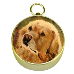 Golden Retriever Gold Compass