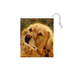 Golden Retriever Drawstring Pouch (Small)