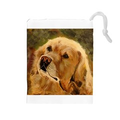 Golden Retriever Drawstring Pouch (large)