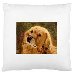 Golden Retriever Large Flano Cushion Case (one Side)