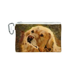 Golden Retriever Canvas Cosmetic Bag (Small)