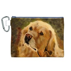 Golden Retriever Canvas Cosmetic Bag (XL)