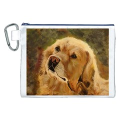 Golden Retriever Canvas Cosmetic Bag (xxl)