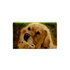 Golden Retriever Cosmetic Bag (XS)