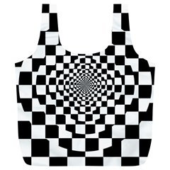 Checkered Flag Race Winner Mosaic Tile Pattern Repeat Reusable Bag (XL)