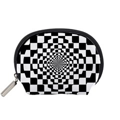 Checkered Flag Race Winner Mosaic Tile Pattern Repeat Accessory Pouch (Small)