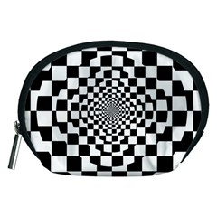 Checkered Flag Race Winner Mosaic Tile Pattern Repeat Accessory Pouch (medium)