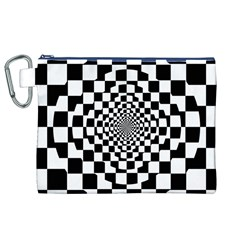 Checkered Flag Race Winner Mosaic Tile Pattern Repeat Canvas Cosmetic Bag (xl)