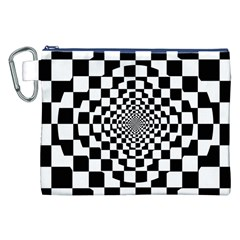 Checkered Flag Race Winner Mosaic Tile Pattern Repeat Canvas Cosmetic Bag (XXL)