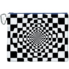 Checkered Flag Race Winner Mosaic Tile Pattern Repeat Canvas Cosmetic Bag (XXXL)