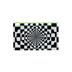Checkered Flag Race Winner Mosaic Tile Pattern Repeat Cosmetic Bag (xs)