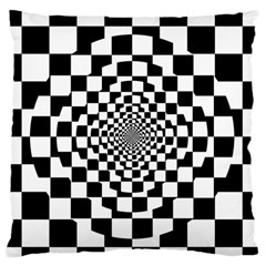 Checkered Flag Race Winner Mosaic Tile Pattern Repeat Large Flano Cushion Case (one Side)