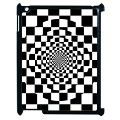 Checkered Flag Race Winner Mosaic Tile Pattern Repeat Apple Ipad 2 Case (black)