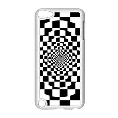 Checkered Flag Race Winner Mosaic Tile Pattern Repeat Apple iPod Touch 5 Case (White)