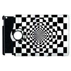 Checkered Flag Race Winner Mosaic Tile Pattern Repeat Apple iPad 2 Flip 360 Case