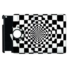 Checkered Flag Race Winner Mosaic Tile Pattern Repeat Apple Ipad 3/4 Flip 360 Case