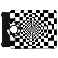 Checkered Flag Race Winner Mosaic Tile Pattern Repeat Kindle Fire HD Flip 360 Case