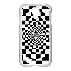 Checkered Flag Race Winner Mosaic Tile Pattern Repeat Samsung Galaxy S4 I9500/ I9505 Case (white)