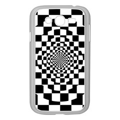 Checkered Flag Race Winner Mosaic Tile Pattern Repeat Samsung Galaxy Grand DUOS I9082 Case (White)