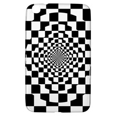 Checkered Flag Race Winner Mosaic Tile Pattern Repeat Samsung Galaxy Tab 3 (8 ) T3100 Hardshell Case