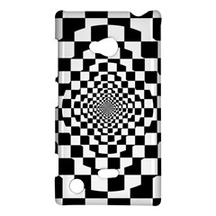 Checkered Flag Race Winner Mosaic Tile Pattern Repeat Nokia Lumia 720 Hardshell Case