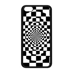 Checkered Flag Race Winner Mosaic Tile Pattern Repeat Apple iPhone 5C Seamless Case (Black)