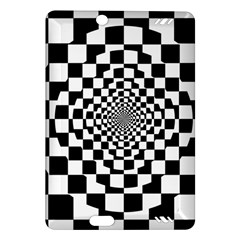 Checkered Flag Race Winner Mosaic Tile Pattern Repeat Kindle Fire HD (2013) Hardshell Case