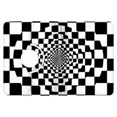 Checkered Flag Race Winner Mosaic Tile Pattern Repeat Kindle Fire HDX Flip 360 Case