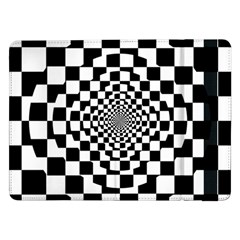 Checkered Flag Race Winner Mosaic Tile Pattern Repeat Samsung Galaxy Tab Pro 12 2  Flip Case
