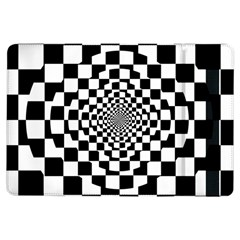 Checkered Flag Race Winner Mosaic Tile Pattern Repeat Apple iPad Air Flip Case