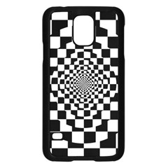 Checkered Flag Race Winner Mosaic Tile Pattern Repeat Samsung Galaxy S5 Case (Black)