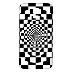 Checkered Flag Race Winner Mosaic Tile Pattern Repeat Samsung Galaxy S5 Back Case (white)