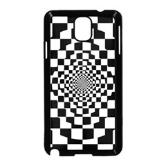 Checkered Flag Race Winner Mosaic Tile Pattern Repeat Samsung Galaxy Note 3 Neo Hardshell Case (Black)