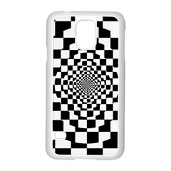 Checkered Flag Race Winner Mosaic Tile Pattern Repeat Samsung Galaxy S5 Case (White)