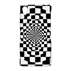 Checkered Flag Race Winner Mosaic Tile Pattern Repeat Sony Xperia Z2 Hardshell Case