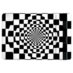 Checkered Flag Race Winner Mosaic Tile Pattern Repeat Apple iPad Air 2 Flip Case