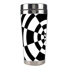 Checkered Flag Race Winner Mosaic Tile Pattern Round Pie Wedge Stainless Steel Travel Tumbler