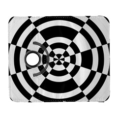 Checkered Flag Race Winner Mosaic Tile Pattern Round Pie Wedge Samsung Galaxy S  III Flip 360 Case