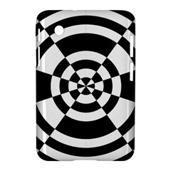 Checkered Flag Race Winner Mosaic Tile Pattern Round Pie Wedge Samsung Galaxy Tab 2 (7 ) P3100 Hardshell Case