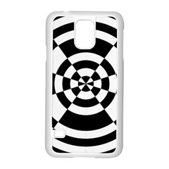 Checkered Flag Race Winner Mosaic Tile Pattern Round Pie Wedge Samsung Galaxy S5 Case (White)