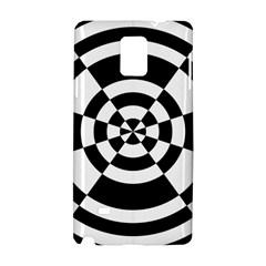 Checkered Flag Race Winner Mosaic Tile Pattern Round Pie Wedge Samsung Galaxy Note 4 Hardshell Case