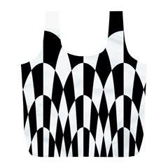 Checkered Flag Race Winner Mosaic Pattern Curves  Reusable Bag (L)