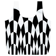 Checkered Flag Race Winner Mosaic Pattern Curves  Reusable Bag (XL)