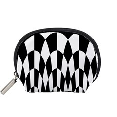 Checkered Flag Race Winner Mosaic Pattern Curves  Accessory Pouch (Small)