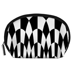 Checkered Flag Race Winner Mosaic Pattern Curves  Accessory Pouch (Large)