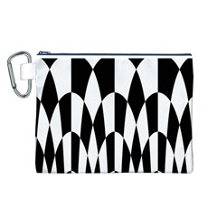 Checkered Flag Race Winner Mosaic Pattern Curves  Canvas Cosmetic Bag (Large)