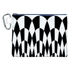 Checkered Flag Race Winner Mosaic Pattern Curves  Canvas Cosmetic Bag (XXL)