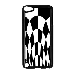 Checkered Flag Race Winner Mosaic Pattern Curves  Apple iPod Touch 5 Case (Black)